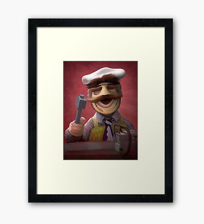 Muppet Maniacs - Swedish Chef as Leatherface Framed Print
