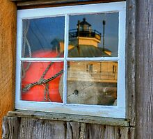 A Reflection of Hooper Strait Lighthouse by Monte Morton