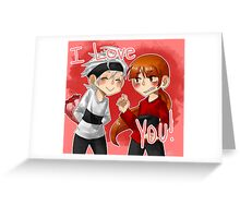 Valentines ben and brick Greeting Card