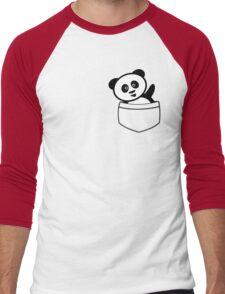 Pocket panda Men's Baseball ¾ T-Shirt