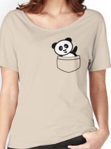 Pocket panda Women's Relaxed Fit T-Shirt