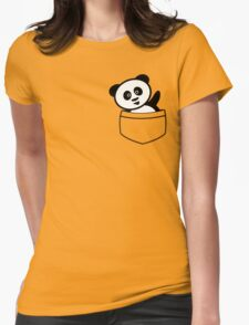 Pocket panda Womens Fitted T-Shirt