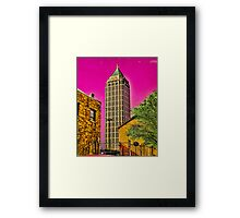 The city is groovy when you see it through acid shades Framed Print