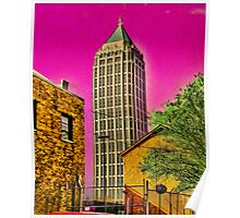 The city is groovy when you see it through acid shades Poster