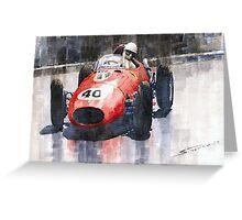 Ferrari Dino 246 F1 Monaco GP 1958 Wolfgang von Trips Greeting Card