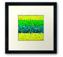 Sparkle and Glitter Green and Yellow Framed Print
