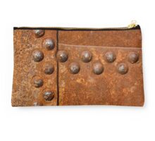 Rusty metal surface with riveted joints Studio Pouch
