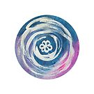Flower In A Circle Mandala by Kendra Kantor