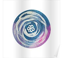 Flower In A Circle Mandala Poster