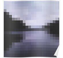 Ireland's dark lake in pixels Poster