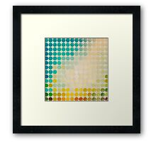 Abstract circles background with grunge paper Framed Print