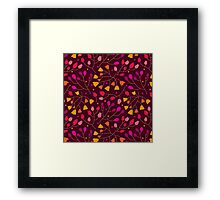 Floral seamless pattern. Flowers Framed Print