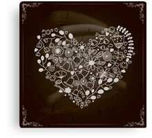 Happy Valentines Ornamental heart Canvas Print