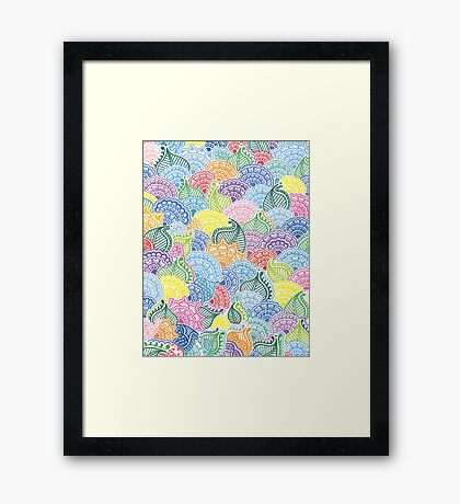 Whimsical Flowers Framed Print