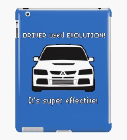 Mitsubishi Evo used Evolution It was Super Effective! Pokemon Gag Sticker / Tee - White iPad Case/Skin