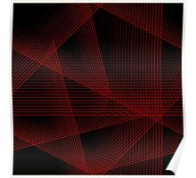 Abstract in Red and Black Poster