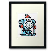 blizzard man Framed Print