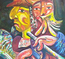 """Golden Calf 14 """"Two Faces in One"""" by CrismanArt"""