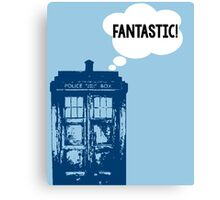 """FANTASTIC!"" - 9th Doctor Canvas Print"