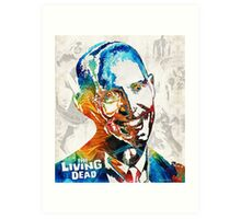Zombie Art - The Living Dead - Halloween Fun Art Print