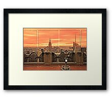 New York City Sunset View Framed Print