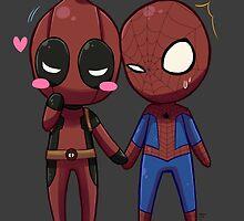 Deadpool & Spiderman by ATstudio