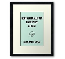 NORTHERN GALLIFREY UNIVERSITY ALUMNI Framed Print