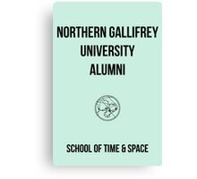 NORTHERN GALLIFREY UNIVERSITY ALUMNI Canvas Print