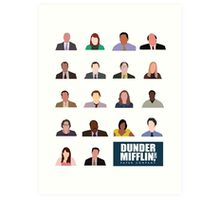 Dunder Mifflin Employee Headshots Art Print