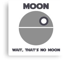 Death Star - Moon Canvas Print