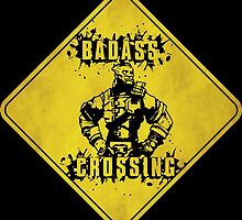 Wilhelm Badass Crossing (Worn Sign) by WondraBox
