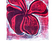 red hibiscus artprint  by Veera Pfaffli