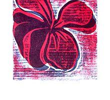 red hibiscus artprint  by Veera Pfaffli