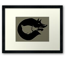 The Fox And Chicken. Framed Print