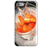 Strawberries on Ice iPhone Case/Skin