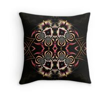 Burgandy Abstract Throw Pillow