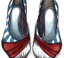 Red, White & Blue Shoe by hivernoir