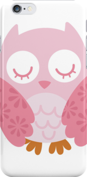 Pink Owl - iphone Case by Carol Knudsen
