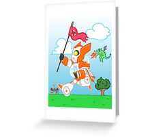 Knight Blades Greeting Card