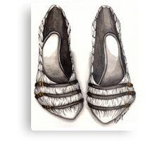 White & Black Shoe Metal Print