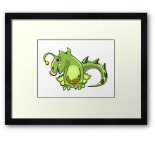 small dragon play with boll Framed Print