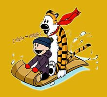 calvin and hobbes by genio
