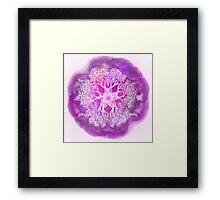 Psychedelic Purple Ink Octopus Blob Framed Print