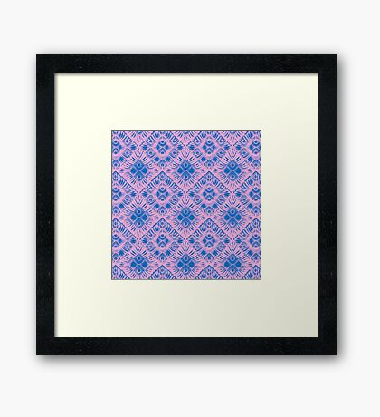 Graphic Shell Pattern Purple Framed Print