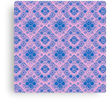 Graphic Shell Pattern Purple Canvas Print