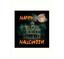 Haunted Mansion - Happy Halloween Art Print