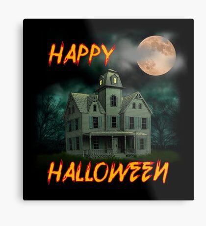 Haunted Mansion - Happy Halloween Metal Print