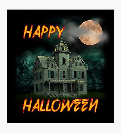 Haunted Mansion - Happy Halloween Photographic Print