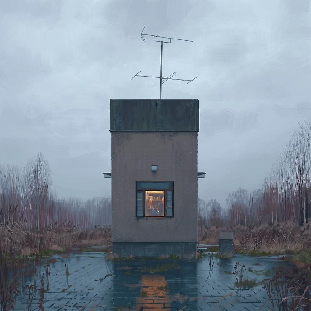 The Booth by Simon Stålenhag