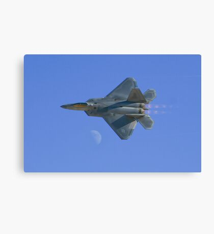 Raptor Over the Moon Canvas Print